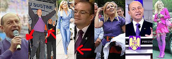 Basescu si flacara violet