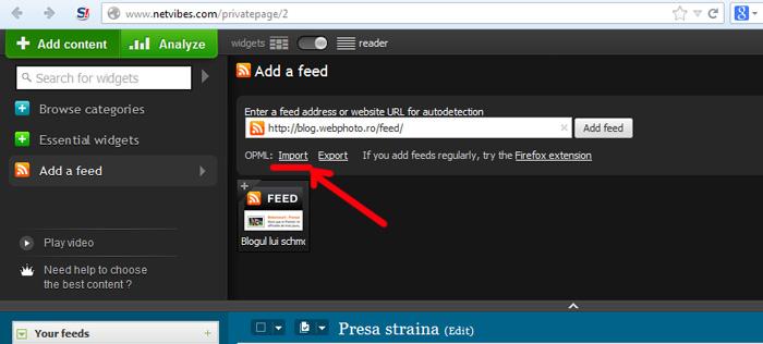 import feed